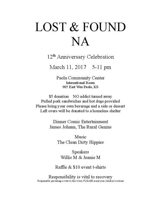 Lost & Found Anniversary